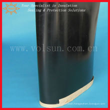 Black heat shrinkable sleeve for corrosion protection