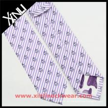 Corbata famosa de seda de encargo al por mayor de lujo de la marca del 100% chino al por mayor