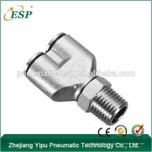 ESP métal Y en forme de raccords de tuyauterie pneumatique filetage mâle raccords pivotants raccords de tuyauterie