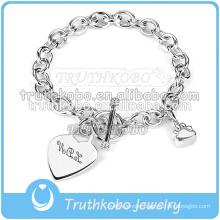 Customized Personalized Cremation Ash Urn Wedding Jewelry Bracelet Heart Stainless Steel Charm Bracelet