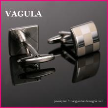 VAGULA nouvelle qualité Laser boutons de manchettes (HL10165)