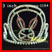 Hot sale rabbit pageant crown for girls,sizes available