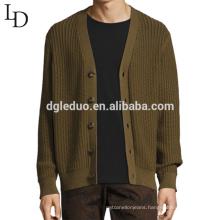 New design fashion v neck casual cotton cardigan sweater for men