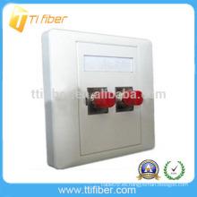 Placa Frontal / placa de pared de fibra óptica de dos puertos FC