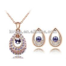 2014 mais recente design banhado jóias de ouro jóias dubai conjunto