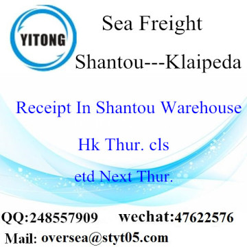Shantou Port LCL Consolidation To Klaipeda