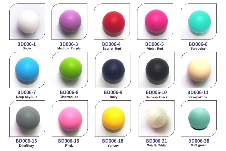 19mm Round Silicone Beads