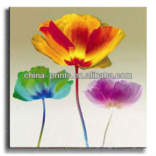 Colorful Lotus Flower Decoration Canvas Art