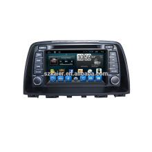 """8 """"carro dvd player, fábrica diretamente! Quad core, GPS, rádio, bluetooth para o novo Mazda6"""