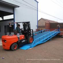 10T hydraulische mobile Gabelstapler Laderampen