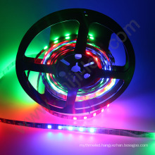 full color changing dmx addressable ws1221 UV 12VDC individual IC control digital pixel rgb flexible led strip