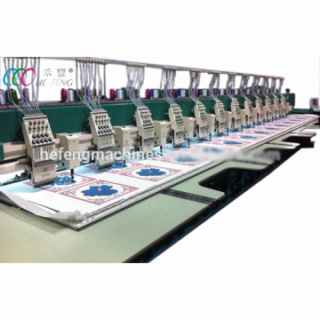 12 Heads Mixed Chenille And Flatbed Embroidery Machine