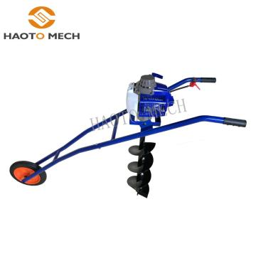 Hand push Earth Auger ground drill digger machine