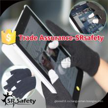 SRSAFETY Черная магическая трикотажная перчатка для смартфона / Перчатка для смартфона