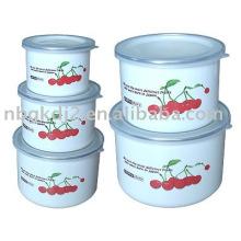 el recipiente de almacenamiento de esmalte