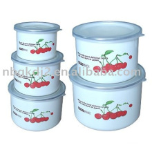 the enamel storage bowl