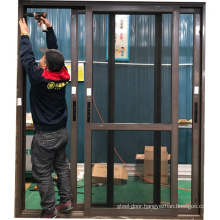 Thermal break profile 2.0mm thickness toughened glass systems sliding doors