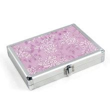 Boîtier à outils rose en aluminium Beauty Case (HX-W3638)