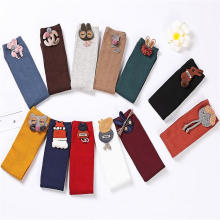 Wholesale candy colored solid Children child cotton baby Stocking kids Knee high socks