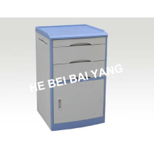 (C-102) Armário de cabeceira ABS com borda azul