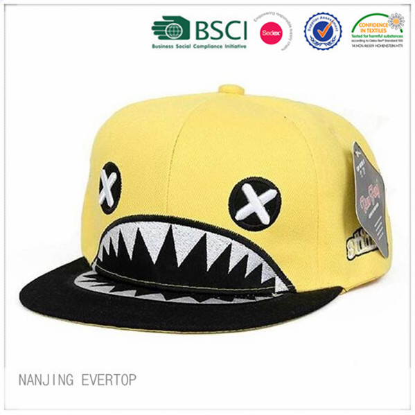 Funny Animal Embroidery Flat Bill Cap