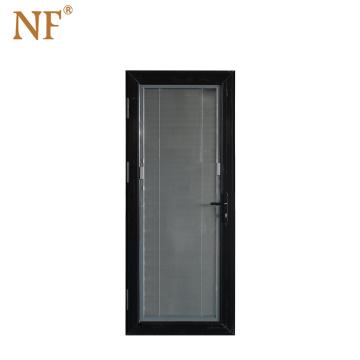 Decorative wooden clad aluminum main front double door design