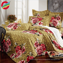 wholesale 3d printed polyester colorful dyeing bedding fabric