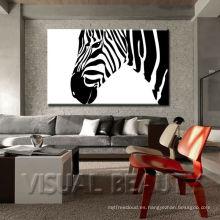 Decoración de la pared de la cebra / impresión de la lona de arte de la cebra para la pared / decoración africana de la cebra de la fotografía de la fauna de la fauna