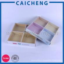 Emballage créatif de boîte de papier de jouets avec le diviseur de papier et la douille de PVC