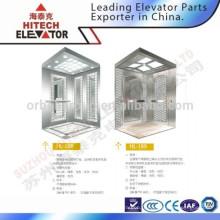 Cabine d'ascenseur avec surface miroir en acier inoxydable / HL-188