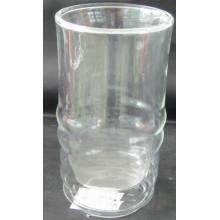 Двойная стеклянная стеклянная чашка для пива,