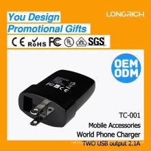 CE, ROHS Aprovado, tomada de montagem em painel, ODM / OEM entrega rápida mini carregador de telefone celular usb