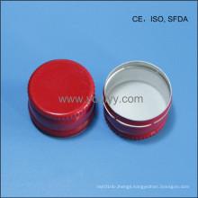 28mm Red Aluminum Cap