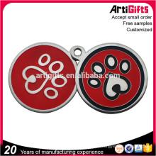 Zinc alloy engravable dog tags pet popular dog id tag