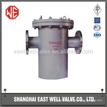 Double flanged end strainer