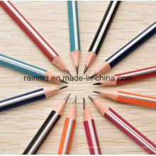 Треугольник полосы бочонок деревянный карандаш с высокое качество