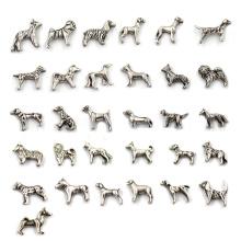 Tibetan Silver Dog Animal Floating Charms Wholesale