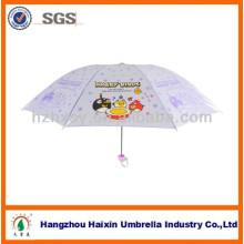Fantasia guarda-chuva brilhante pérola infantil com impressão de desenhos animados