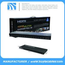 1x16 HDMI Splitter 1X16 Diviseur HDMI 1in 16 ports 16 ports convertisseur vidéo adaptateur adaptateur support 3D 1080p