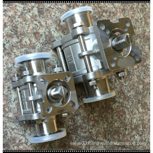 Sanitary Stainless Steel 316 Three Piece Clamped Ball Valve