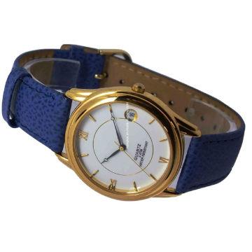 Melhor qualidade couro genuíno da liga relógio para mulheres 15121