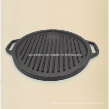 Предварительно приготовленная сковорода для гриля с решеткой для приготовления стейка