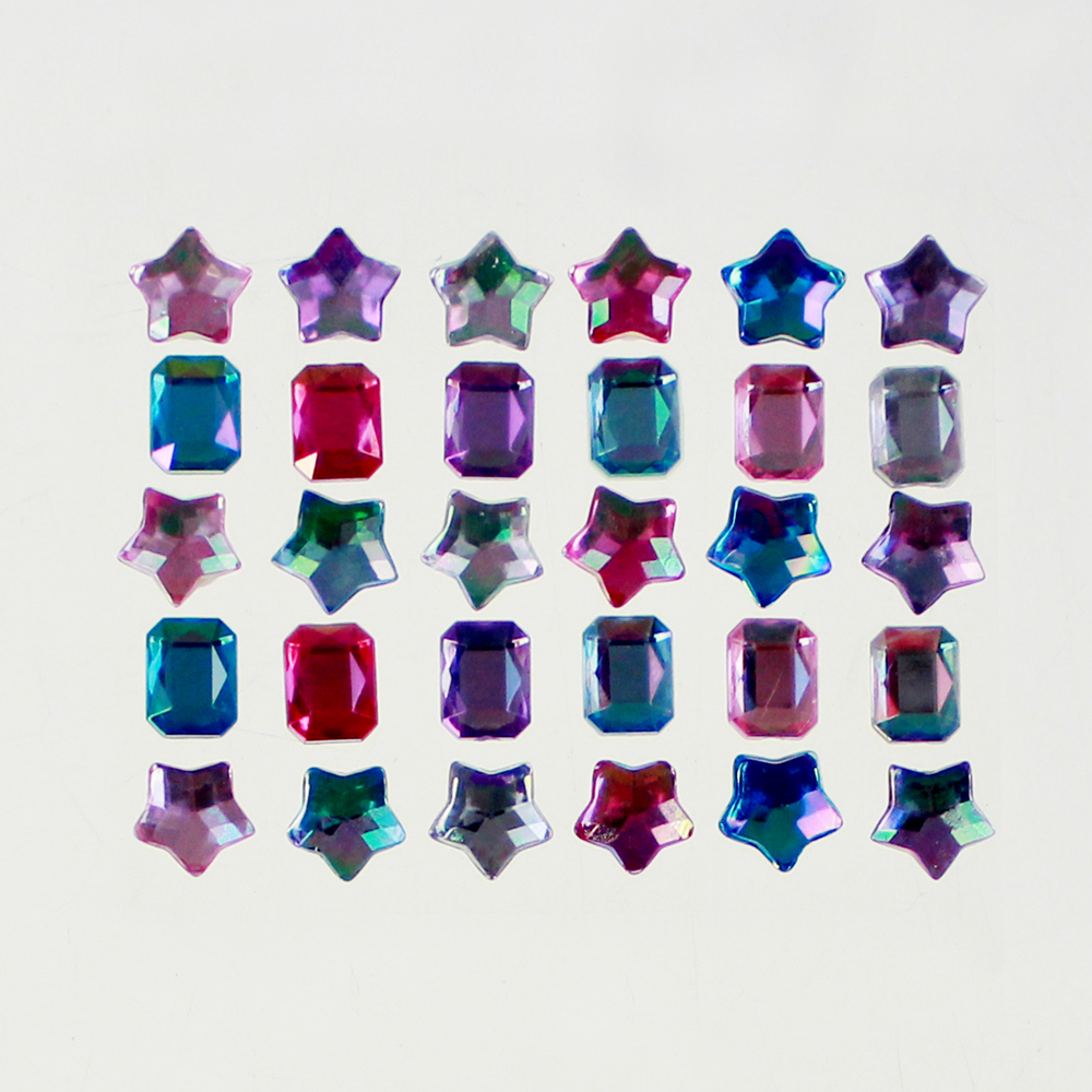 6x6 Gemstone Sticker for Decoration