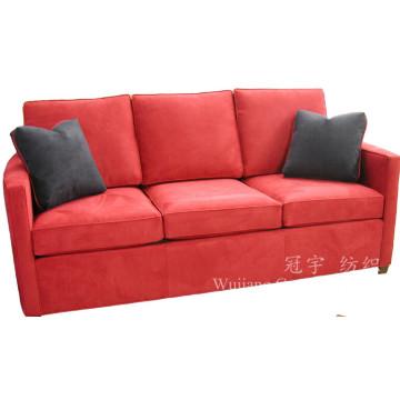 Tecido de couro de camurça super macio para capas de sofá de mobiliário