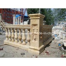 Beige Travertine Stone Sculpture Stair Balustrade (SY-B010)