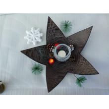 Bandeja de madera en forma de estrella con forma de vela MDF