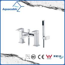 Chromed Surface Bath Shower Tap with Hand Shower (AF6018-2B)