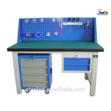 Garage steel workbench with drawers workshop furniture