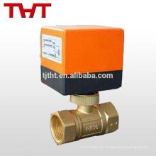 dn100 válvula de bola de cobre amarillo eléctrica de 2 maneras para el gas de agua de aceite
