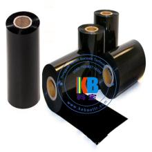 Ruban de code à barres de couleur noire de matériau d'impression de résine de transfert de chaleur